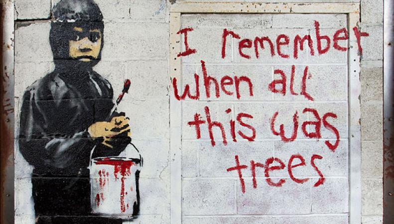 граффити Бэнкси в Детройте