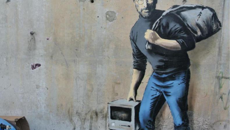 новое граффити Бэнкси