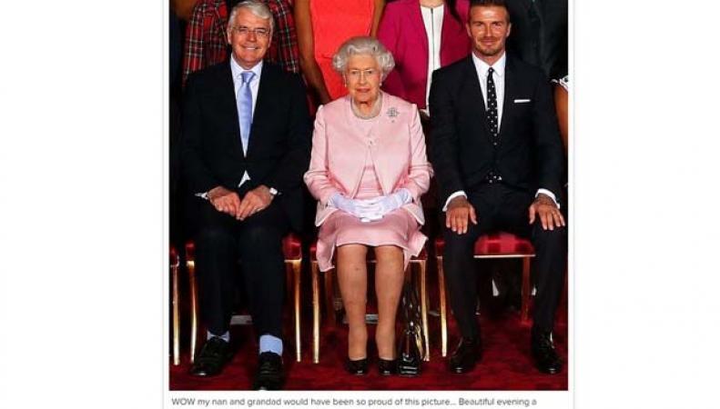 Дэвид Бэкхэм и королева Великобритании