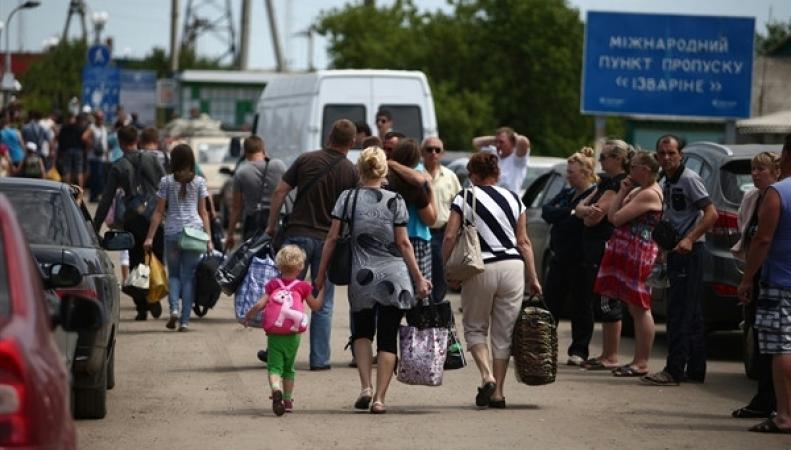 Украина, беженцы, Россия