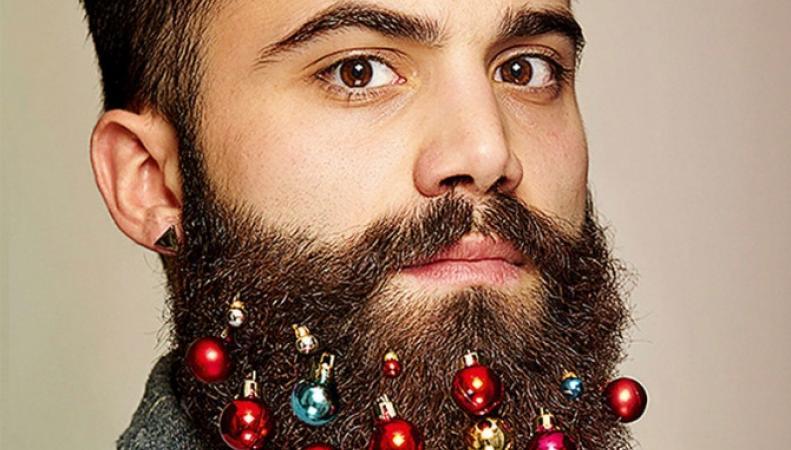 Рождественские украшения для бородачей