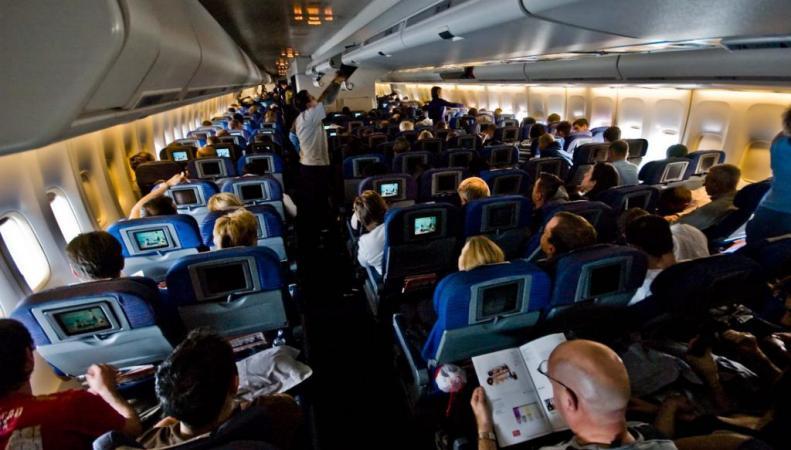 Пьяная дебоширка устроила скандал на борту самолета, прикрываясь фамилией Путина
