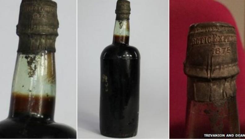 Древняя бутылка пива