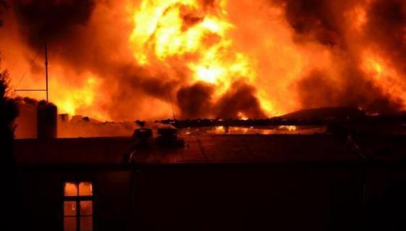 Взрыв и пожар на химзаводе в Германии