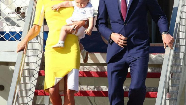 Принц Уильям, Кейт Миддлтон и их сын в Сиднее