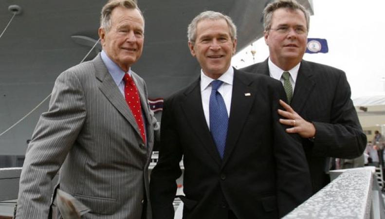 Джордж Буш-старший с сыновьями