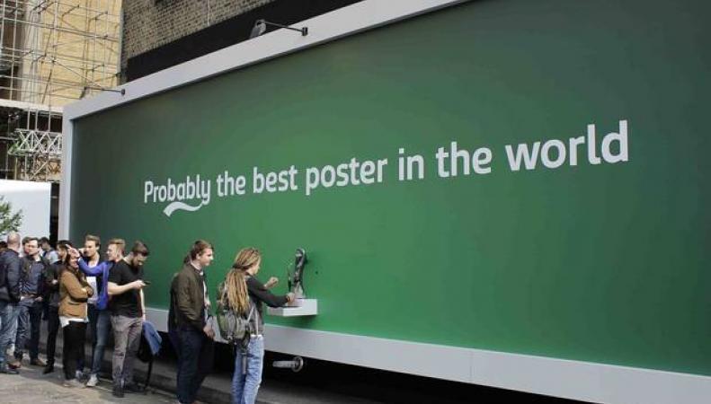 Рекламный плакат Carlsberg