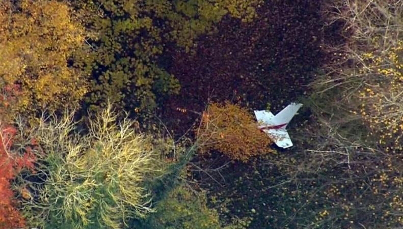 хвост разбившегося самолета