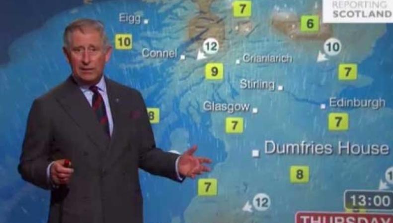 Принц Чарльз читает прогноз погоды на ВВС