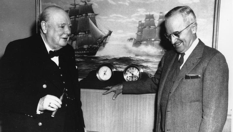 Уинстон Черчилль и Гарри Трумэн
