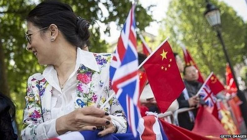 китайская проправительственная демонстрация