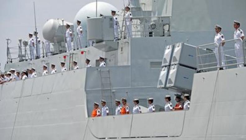 Китайские военные корабли в Новороссийске