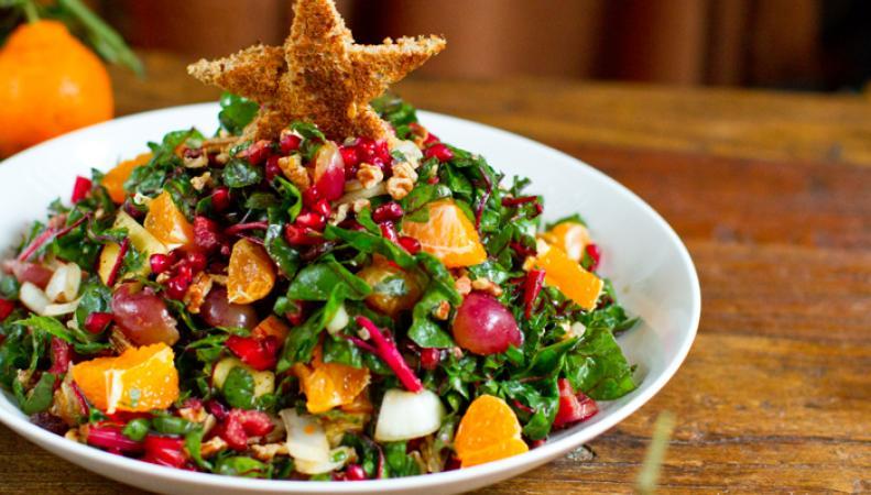 Здоровый рождественский салат