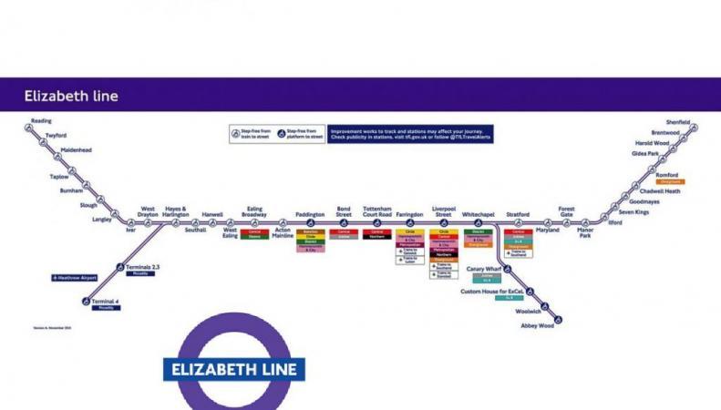 схема движения Crossrail