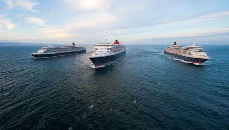 "Три ""Королевы"" Cunard"