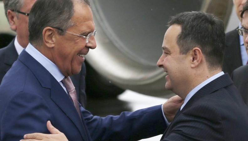 На пресс-конференции в Белграде обсуждался вопрос отношений РФ и Сербии после вступления последней в ЕС