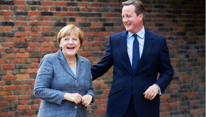 Кэмерон остро пошутил над Меркель,