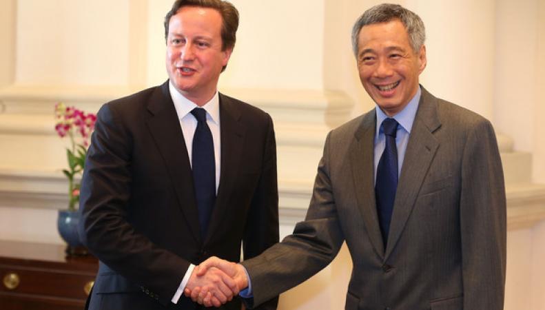 премьер-министры Великобритании и Сингапура