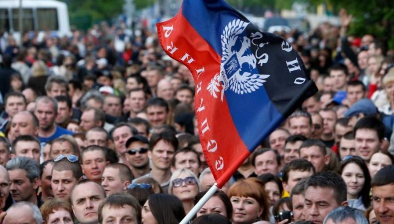 Донецк: митинг против выборов украинского президента