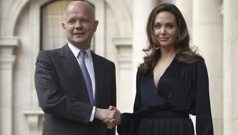 Анджелина Джоли и глава МИД Великобритании Уильям Хейг