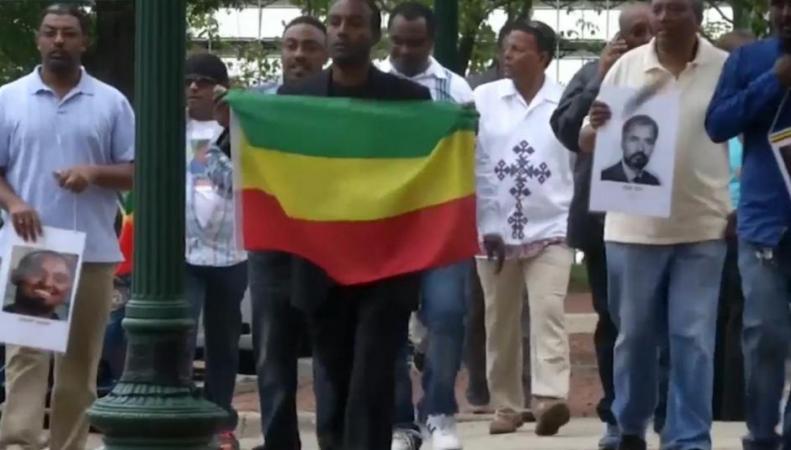 Протесты в Вашингтоне против политики Эфиопии