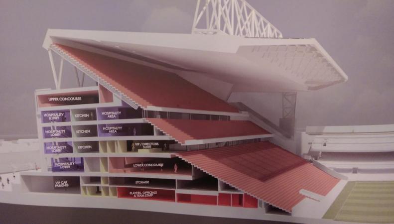 """План реконструкции трибуны стадиона """"Энфилд"""""""
