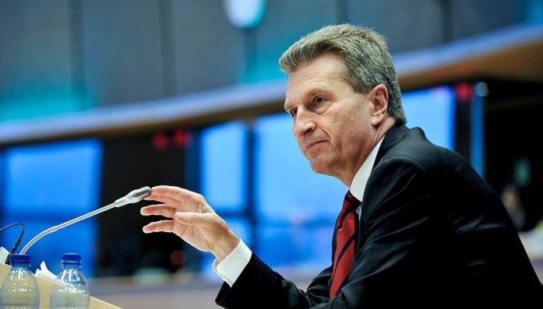 Эттинер не хочет санкций против энергетического сектора России