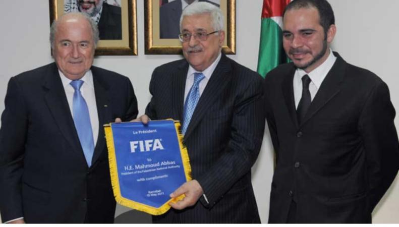 Йозеф Блаттер и иорданский принц  Али бин Аль-Хусейн