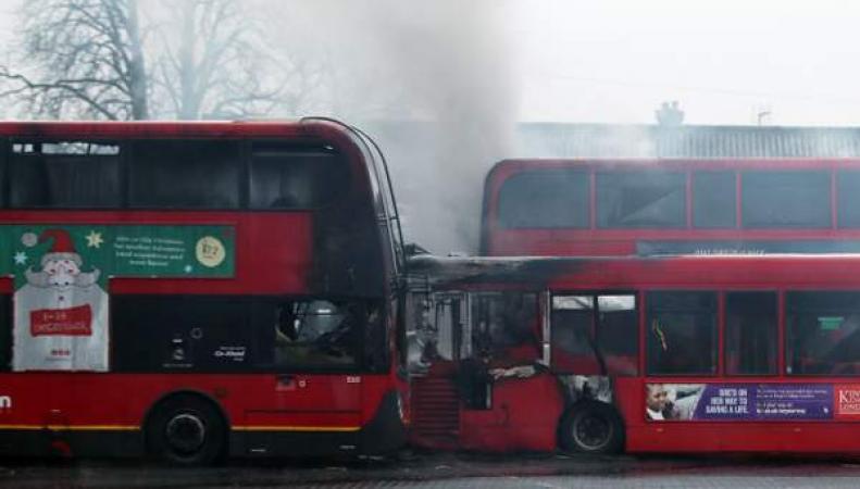 сгоревшие автобусы