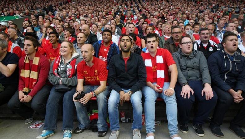 В Великобритании больше фанатов Ливерпуля