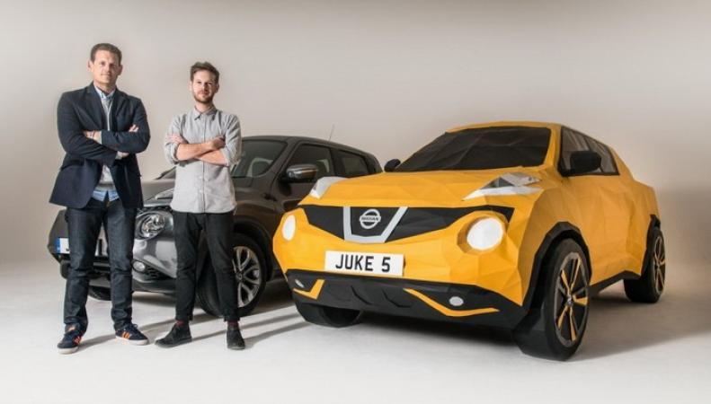 В Британии создали бумажный Nissan Juke