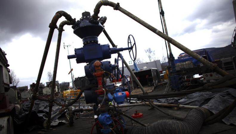 установка для газодобычи методом гидроразрыва