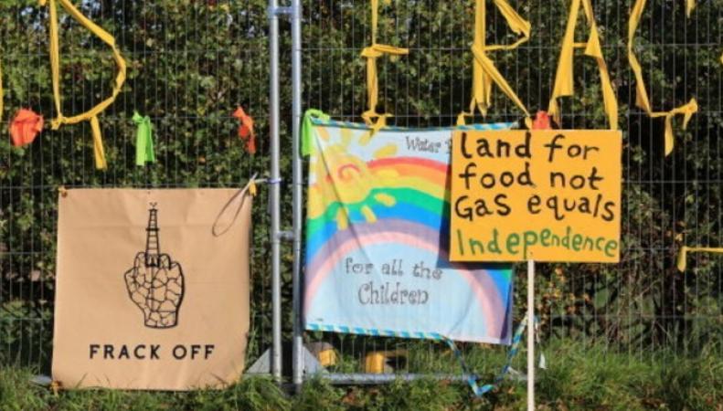 плакаты против фрекинга