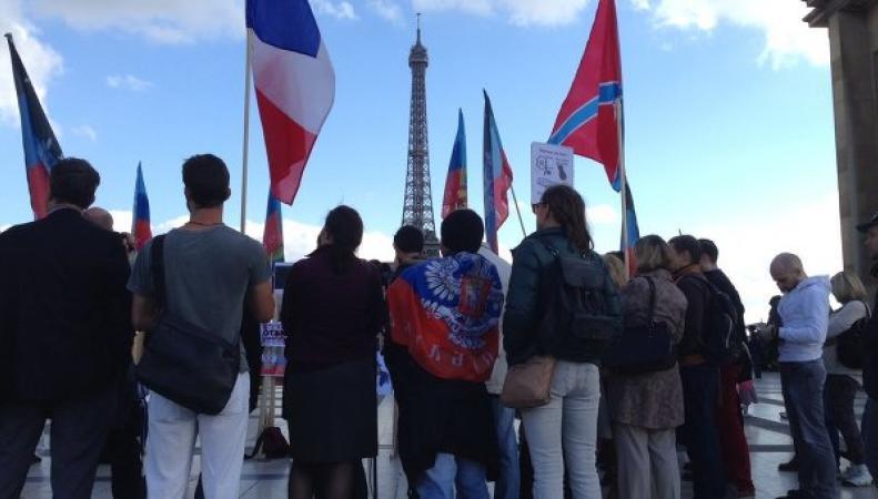 Митинг во Франции в поддержку Новороссии