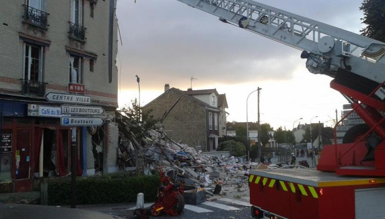 Взорвавшийся во Франции дом