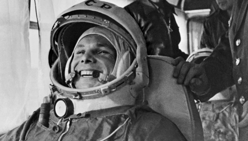 Первый человек в космосе Юрий Гагарин