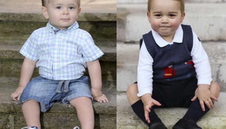 Двойником принца Джорджа назвали маленького британца