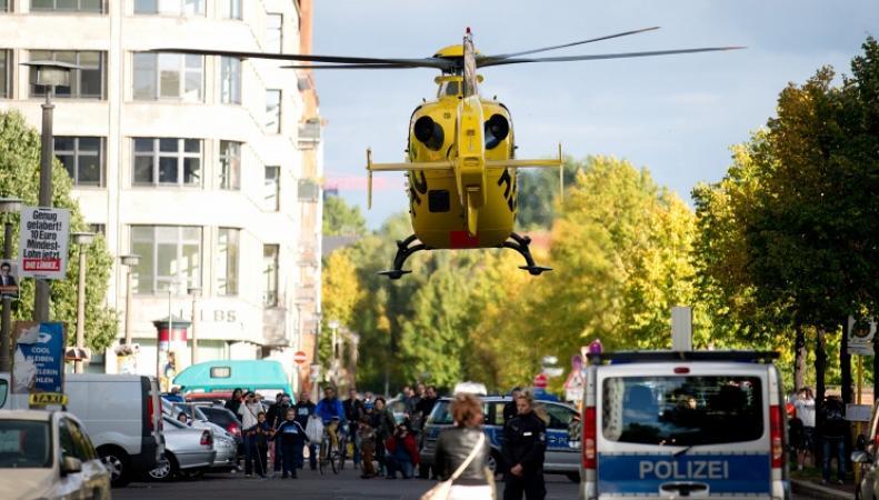 Спасательный вертолет в Германии