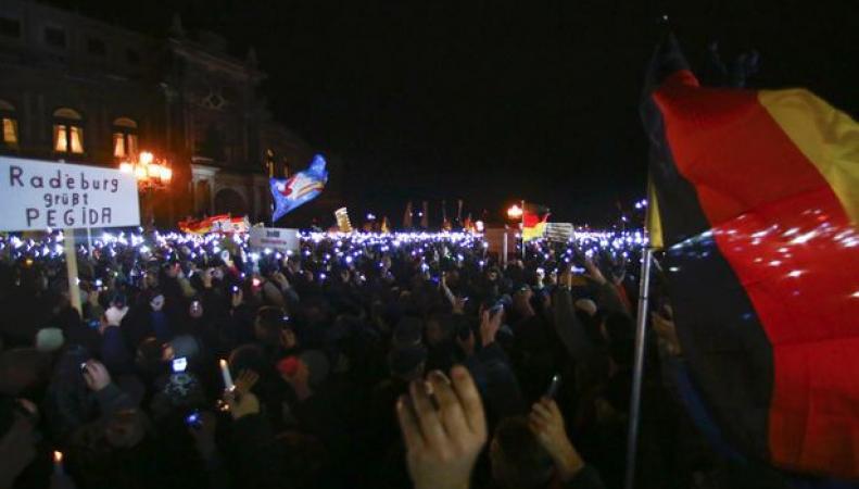 Протест Пегида в Германии