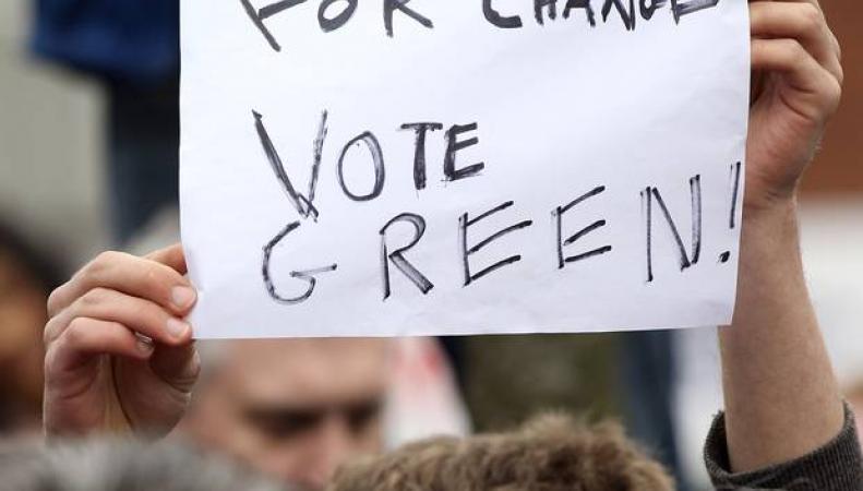 Митинг партии зеленых