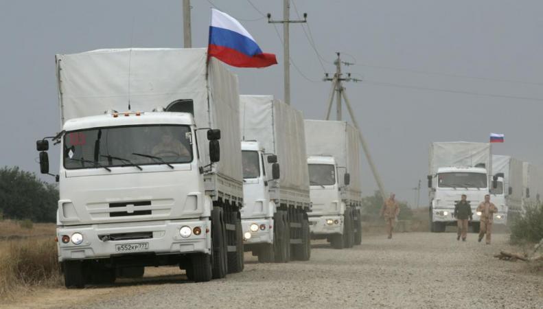 Восьмой гумконвой МЧС России прибыл в Ростовскую область, откуда направится в Донбасс, http://www.day.kiev.ua/