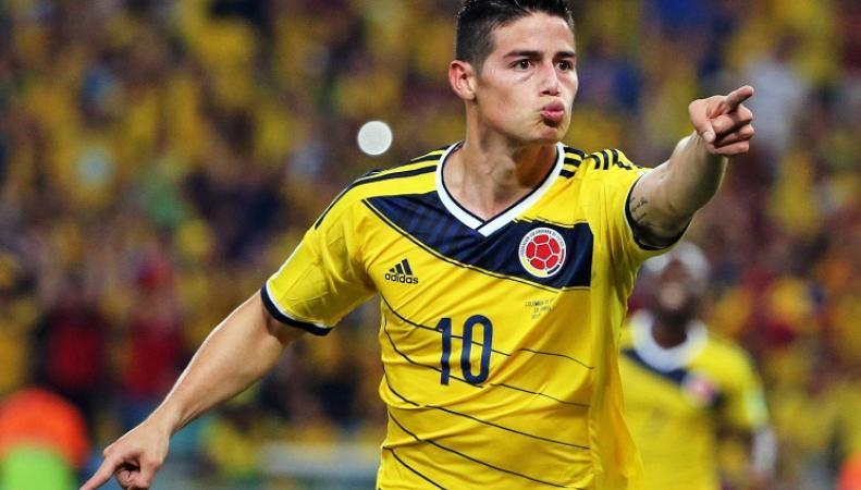 Хамес Родригез, футболист сборной Колумбии