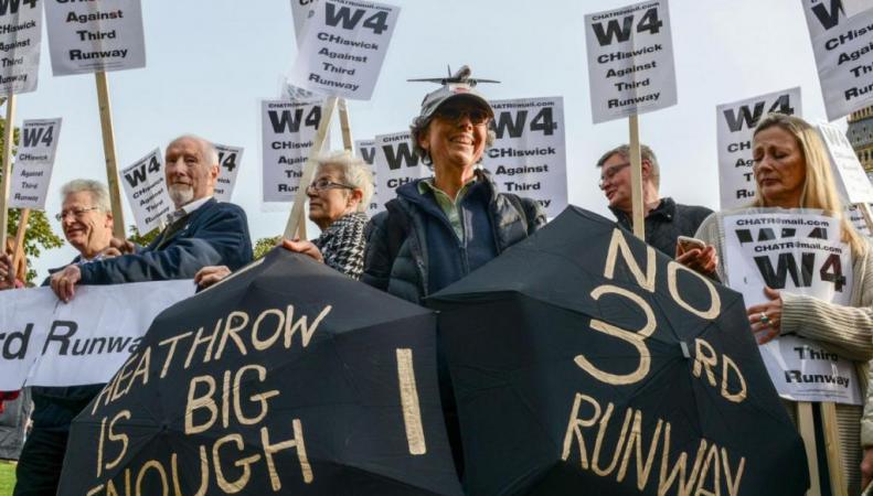 протест против экспансии Хитроу