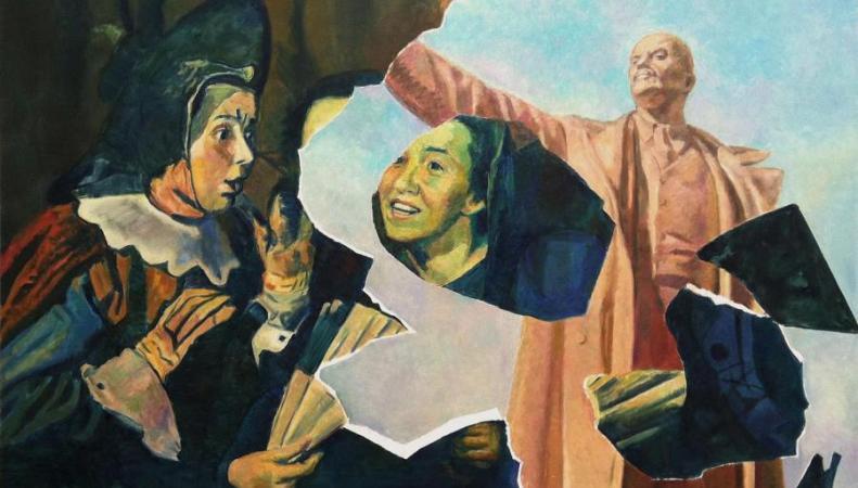 "картина из серии ""Создание коллажа"", И. Кабаков"