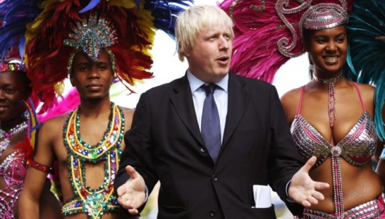 Борис Джонсон на карнавале в Ноттинг-Хилл