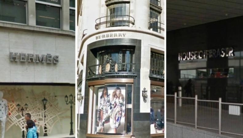 фасады лондонских магазинов