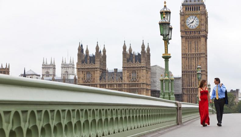 Пара в Лондоне
