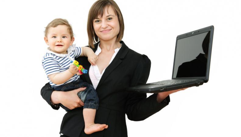 Работающие женщины с детьми