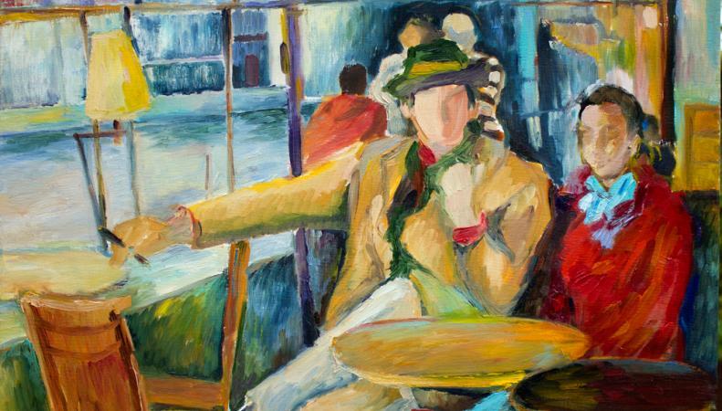Картина Ирины Макаровой Парижское кафе