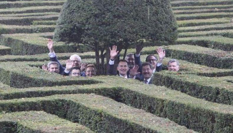 министры иностранных дел в Кентском лабиринте